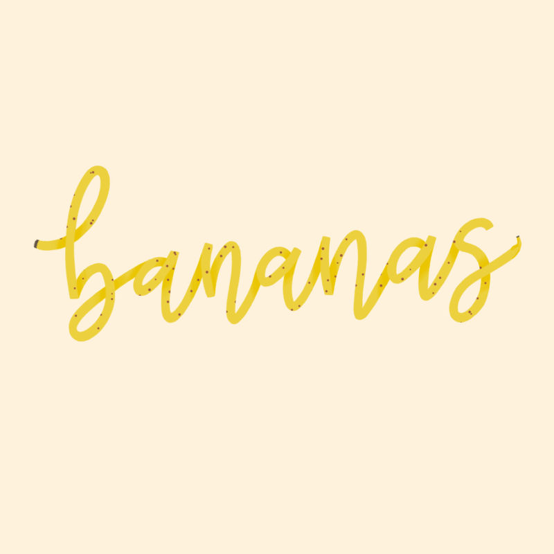 Bananas_Fruit_Series_Rosie_Tea_Digital_Hand_Lettering